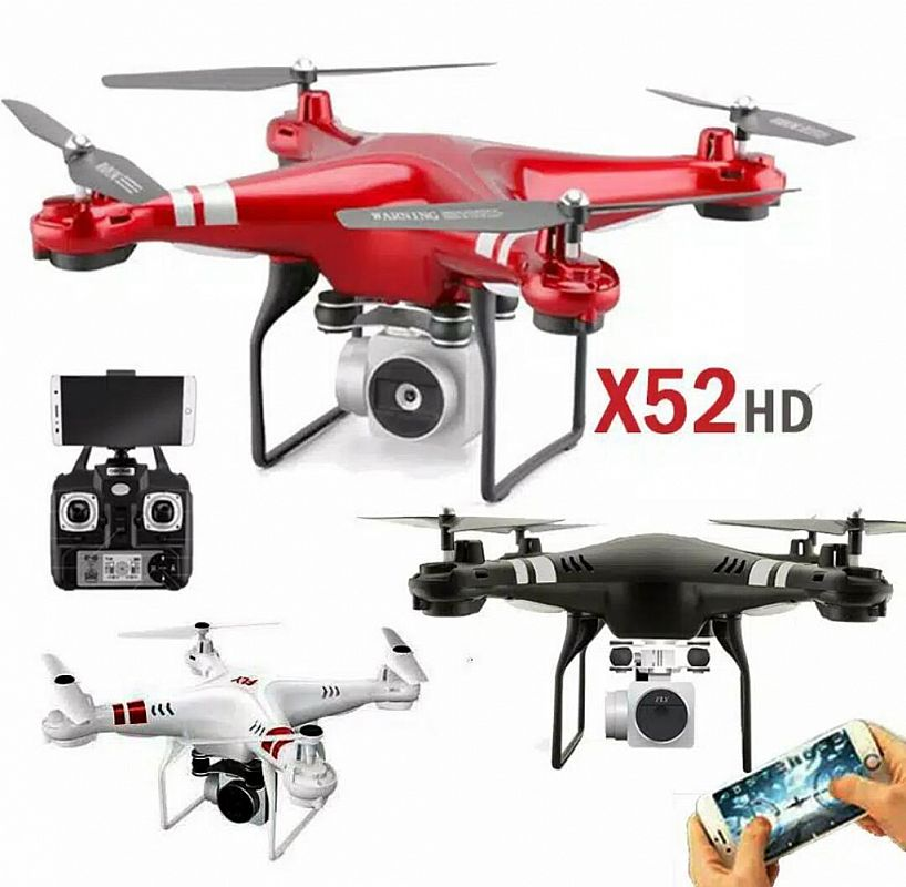 Drone RC Aircraft WiFi 4-Axis Kamera Altitude Hold x52hd
